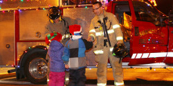 Children with Fire Fighters